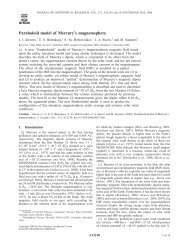 Paraboloid model of Mercury's magnetosphere