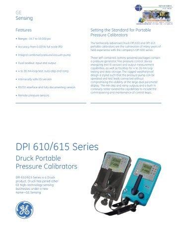 DPI 610/615 Series - Instrumetrics Engineering Ltd.