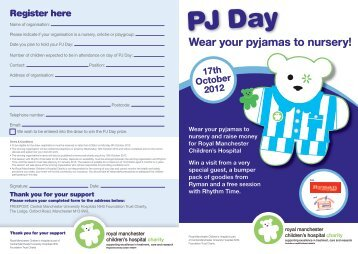 PJ Day - Royal Manchester Childrens Hospital Charity