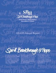 2004-05 Annual Report - Spina Bifida & Hydrocephalus Association ...