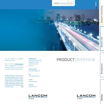 Product Overview - LANCOM Systems