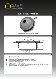Pilot light with Buzzer WSFB60 - LED