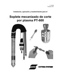 Soplete mecanizado de corte por plasma PT-600