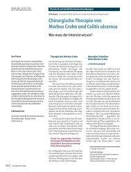 Chirurgische Therapie von Morbus Crohn und Colitis ... - Springer