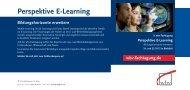 Perspektive E-Learning - wbv-Fachtagung