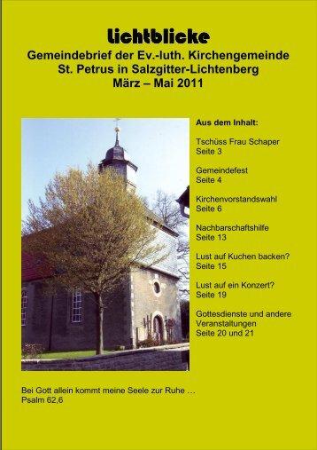 Gemeindebrief der Ev.-luth. Kirchengemeinde St. Petrus in Salzgitter ...
