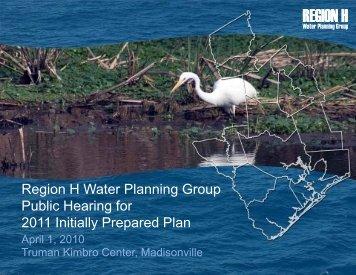 Public Hearing for 2011 IPP, Truman Kimbro Center ... - Region H
