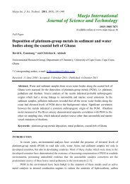 Deposition of platinum-group metals in sediment and water bodies ...