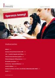 Ausgabe Nr. 4, Speranza bewegt - Dezember ... - Stiftung Speranza