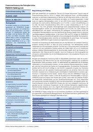 Zusammenfassung des Ratingberichtes 2011_Rasch Holding Ltd.