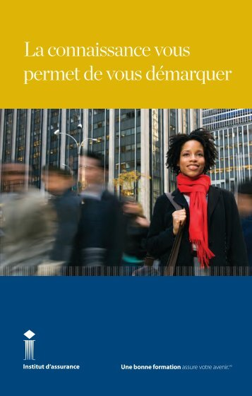 brochure de l'Institut d'assurance - Insurance Institute of Canada