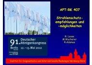APT–RK 407 Strahlenschutz- empfehlungen und -möglichkeiten