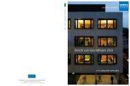 Bericht zum Geschäftsjahr 2010