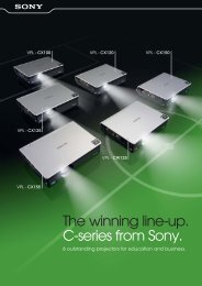 The winning line-up. C-series from Sony. - que Video