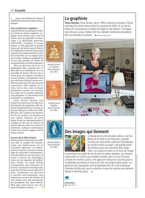 La Poste Magazine – 2010 - tessagerster