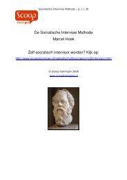 De Socratische Intervisie Methode Marcel Hoek ... - Scoop trainingen