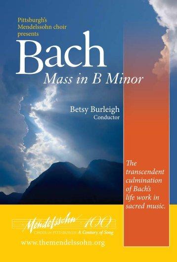 Betsy Burleigh - Mendelssohn Choir of Pittsburgh
