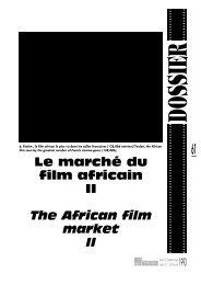 cinéma africain : données et chiffres / African cinema - Africultures