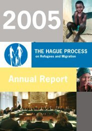 Annual Report 2005 - The Hague Process on Refugees and Migration