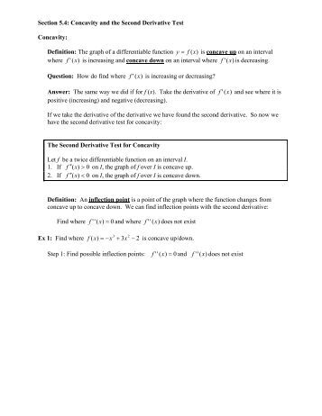 first derivative test worksheet pdf