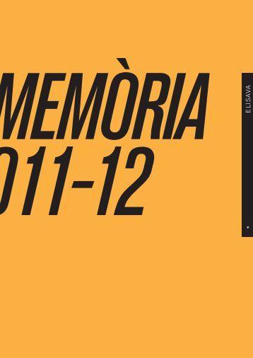 Memòria 2011-2012 (PDF 5.65 MB) - ELISAVA