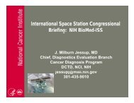 International Space Station Congressional Briefing: NIH BioMed-ISS ...
