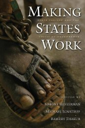 Making states work - United Nations University