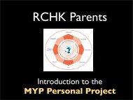 Information for Parents 2011