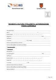 richiesta voltura titolarieta' autorizzazione passo carrabile
