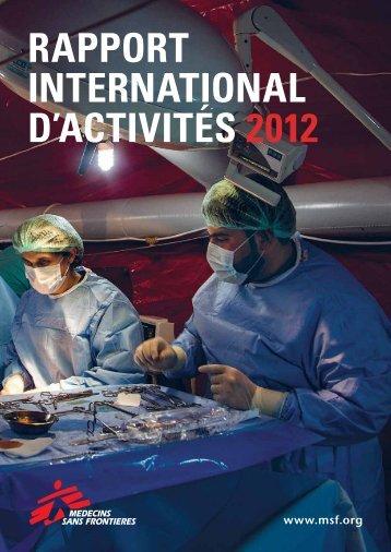 RAPPORT INTERNATIONAL D'ACTIVITÉS 2012