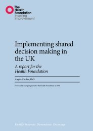 Implementing shared decision making in the UK - Health Foundation