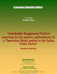 """Economia Aziendale Online© """"Stakeholder Engagement Policies ..."""