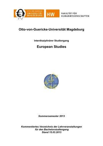 Bachelor European Studies - European Studies - Otto-von-Guericke ...