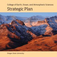 Strategic Plan - College of Earth, Ocean, and Atmospheric Sciences