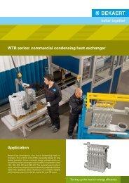 WTB series: commercial condensing heat exchanger ... - Bekaert