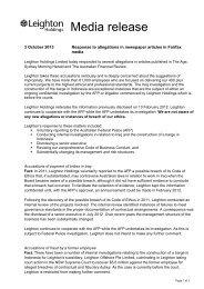 Media release - Leighton Asia