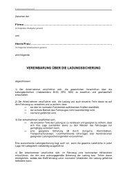 Dienstanweisung: Vereinbarung über die Ladungssicherung