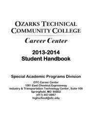 OTC Career Center Handbook 2013-2014 - Ozarks Technical ...
