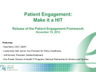 Patient engagement framework release - master