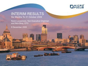INTERIM RESULTS - Investor Relations - Micro Focus