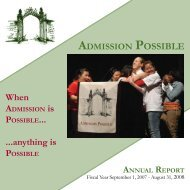 Annual Report FY07-08.indd - College Possible