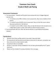 Common Core Coach Grade 6 Math Lab Pacing Assessment ...