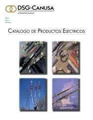 CATALOGO DE PRODUCTOS ELECTRICOS - DSG-Canusa