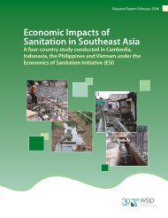 Economic Impacts of Sanitation in Southeast Asia - WSP
