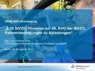 29 StVZO, Hinweise zur 48. ÄVO der StVZO, Rahmenbedingungen ...