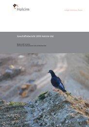 Geschäftsbericht 2010 Holcim Ltd