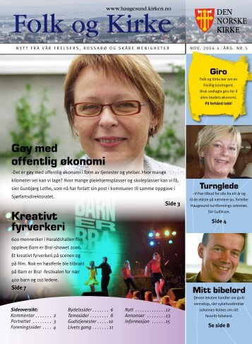 Gøy med offentlig økonomi Kreativt fyrverkeri - Haugesund Kirke