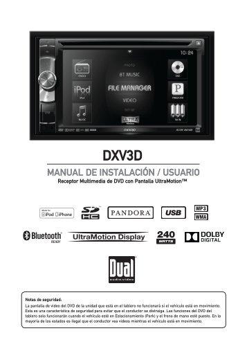DXV3D Guía rápida de inicio Receptor DVD ... - Dual Electronics