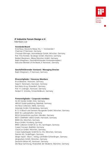 Members List September 2008 - iF - International Forum Design ...