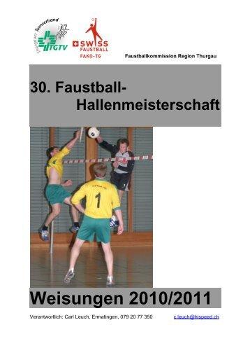 Weisungen 2010/2011 - Faustball SATUS Kreuzlingen
